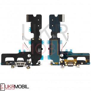 Шлейф Apple iPhone 7 Plus, с разъемом на зарядку, микрофоном, Original PRC, Black