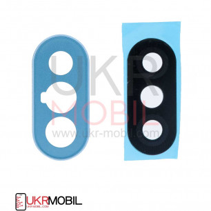 Стекло камеры Xiaomi Redmi Note 5, Redmi Note 5 Pro, с рамкой, Blue