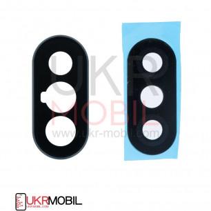 Стекло камеры Xiaomi Redmi Note 5, Redmi Note 5 Pro, с рамкой, Black