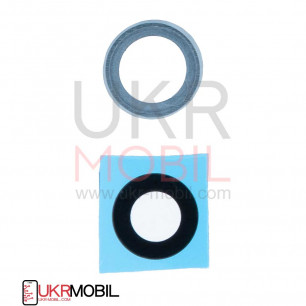 Стекло камеры Huawei Mate 20 Lite (SNE-LX1), с рамкой, Blue