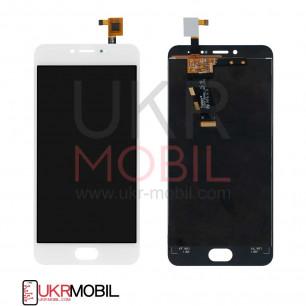 Дисплей Meizu M3, M3 mini M688H, с тачскрином, White