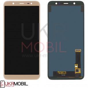 Дисплей Samsung J810 Galaxy J8 2018, TFT (подсветка - original), с тачскрином, Gold