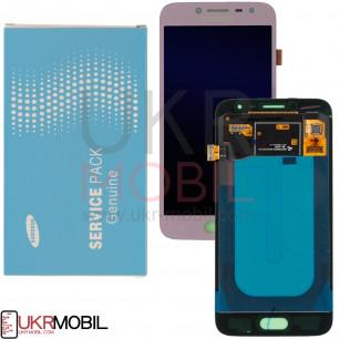 Дисплей Samsung J250, Galaxy J2 2018, GH97-21339C (SERVICE PACK ORIGINAL) с тачскрином Pink
