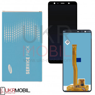 Дисплей Samsung A750 Galaxy A7 2018, GH96-12078A, с тачскрином, Service Pack Original, Black