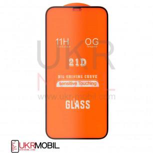 Защитное стекло Apple iPhone 12 Pro, Full Glue 2.5D, Black