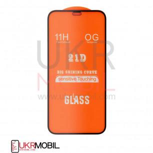 Защитное стекло Apple iPhone 12, Full Glue 2.5D, Black