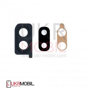 Стекло камеры Samsung A205 Galaxy A20, с рамкой, Black