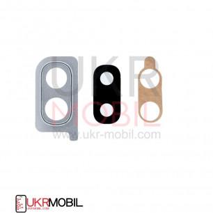 Стекло камеры Samsung A205 Galaxy A20, с рамкой, Silver