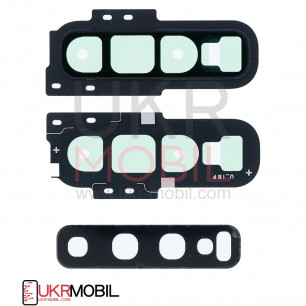 Стекло камеры Samsung G973 Galaxy S10, с рамкой, Black