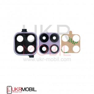 Стекло камеры Huawei P40 Lite (MAR-LX1A, JNY-L21, JNY-L21A, JNY-L22), с рамкой, Purple