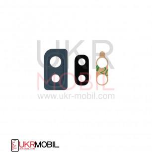 Стекло камеры Samsung A105 Galaxy A10, A205, A305, A405, с рамкой, Black