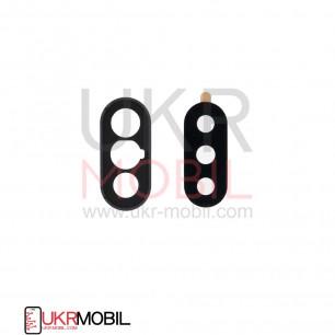 Стекло камеры Xiaomi Redmi Note 6 Pro, с рамкой, Black