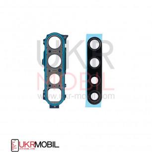Стекло камеры Xiaomi Redmi Note 8, Redmi Note 8T, с рамкой, Blue