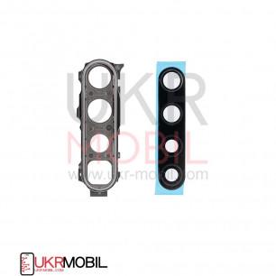 Стекло камеры Xiaomi Redmi Note 8, Redmi Note 8T, с рамкой, Silver