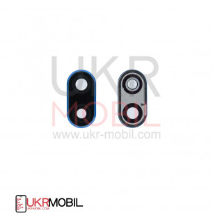 Стекло камеры Huawei Mate 10 Lite (RNE-L01, L02, L03, RNE-L21, L22, L23), Nova 2i, с рамкой, Blue