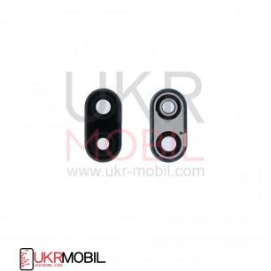 Стекло камеры Huawei Mate 10 Lite (RNE-L01, L02, L03, RNE-L21, L22, L23), Nova 2i, с рамкой, Black