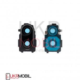 Стекло камеры Xiaomi Redmi Note 7, с рамкой, Black