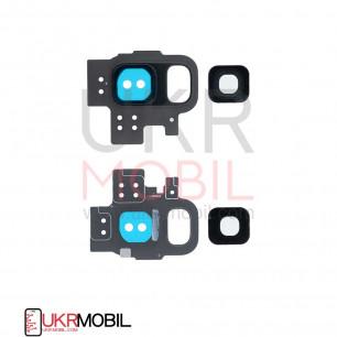 Стекло камеры Samsung G960 Galaxy S9, с рамкой, Grey