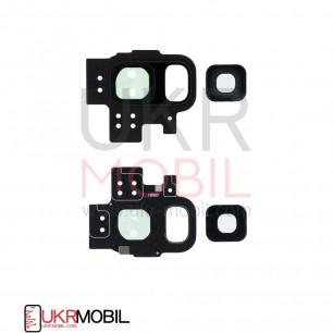 Стекло камеры Samsung G960 Galaxy S9, с рамкой, Black