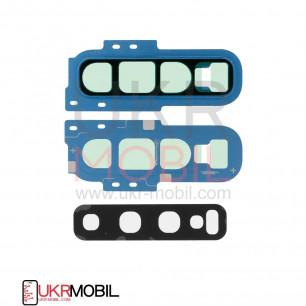 Стекло камеры Samsung G973 Galaxy S10, с рамкой, Blue