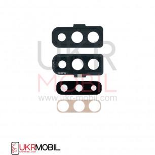 Стекло камеры Samsung A705 Galaxy A70, с рамкой, Black