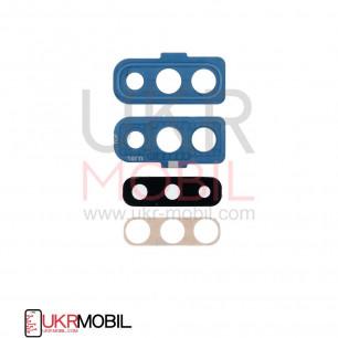 Стекло камеры Samsung A705 Galaxy A70, с рамкой, Blue