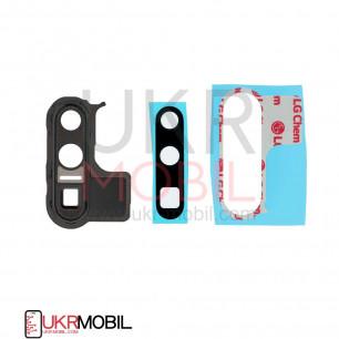 Стекло камеры Huawei P30 Pro (VOG-L09, VOG-L29), с рамкой, Black