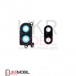 Стекло камеры Xiaomi Mi 8 Lite, с рамкой, Black