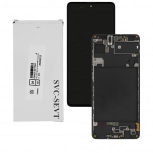 Дисплей Samsung A715 Galaxy A71, GH82-22152A, с тачскрином, рамкой, Service Pack Original, Black