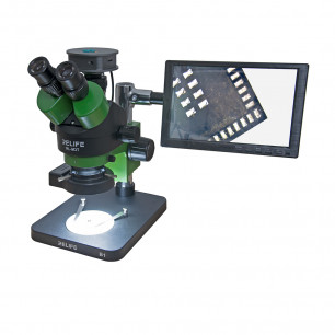 Микроскоп Relife RL M3T-B1 тринокулярный, c камерой (48MP, Full HD), дисплеем (10 inch)