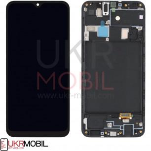 Дисплей Samsung A205 Galaxy A20 2019, с тачскрином, рамкой, Original PRC, Black