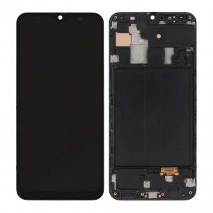 Дисплей Samsung A305 Galaxy A30 2019, с тачскрином, рамкой, OLED, Black