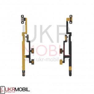 Шлейф Apple iPad Mini 2 Retina (A1489, A1490, A1491), iPad Mini 3 Retina (A1599, A1600), кнопка включения, боковая кнопка, с компонентами