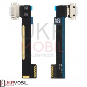 Шлейф Apple iPad Mini 4 (A1538, A1550), коннектор зарядки, с компонентами, White