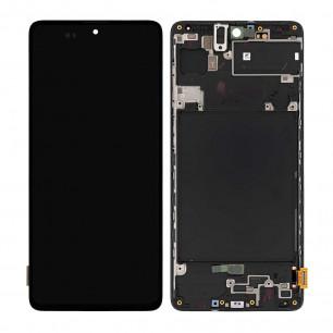 Дисплей Samsung A715 Galaxy A71, с тачскрином, с рамкой, Original, Black