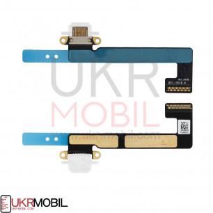 Шлейф Apple iPad Mini 2 Retina (A1489, A1490, A1491), iPad Mini 3 Retina (A1599, A1600), коннектор зарядки, с компонентами, White