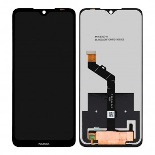 Дисплей Nokia 6.2 TA-1198, TA-1200, TA-1187, TA-1201, с тачскрином, Original, Black