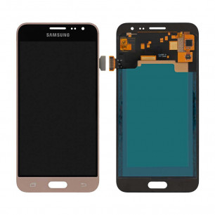 Дисплей Samsung J320 Galaxy J3 2016, с тачскрином, INCELL, Gold