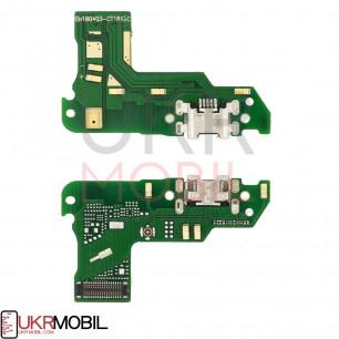 Шлейф Huawei Y6 2018 ATU-L21, Y6 Prime 2018 (ATU-L31), Honor 7A Pro(AUM-L29,), коннектора зарядки, с микрофоном, плата зарядки
