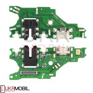 Шлейф Huawei P Smart Plus (INE-LX1), Nova 3 (PAR-LX1) Nova 3i, Nova 3is, коннектора наушников, коннектора зарядки, с микрофоном, плата зарядки
