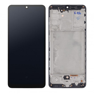 Дисплей Samsung A315 Galaxy A31, с тачскрином, с рамкой, Original, Black
