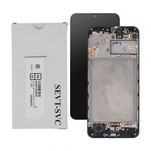 Дисплей Samsung M315 Galaxy M31, GH82-22405A, с тачскрином, рамкой, Service Pack Originall, Black