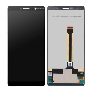 Дисплей Nokia 7 Plus TA-1046, TA-1055, с тачскрином, Original, Black