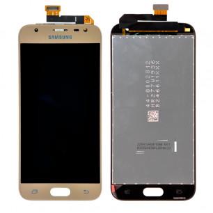 Дисплей Samsung J330 Galaxy J3 2017, с тачскрином, Original PRC, Gold