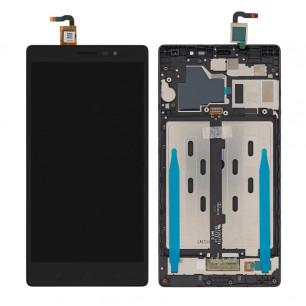 Дисплей Lenovo Phab 2 PB2-650M, с тачскрином, рамкой, Original PRC, Black