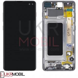 Дисплей Samsung G975 Galaxy S10 Plus, GH82-18849A, с тачскрином, с рамкой, Original, Black