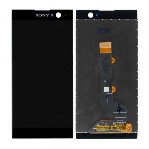 Дисплей Sony H3113 Xperia XA2, H3123 Xperia XA2, H3133 Xperia XA2, H4113 Xperia XA2, H4133 Xperia XA2, с тачскрином, с рамкой, Black