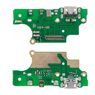 Шлейф Nokia 5 Dual Sim TA-1024, TA-1053, с разъемом зарядки, микрофоном, плата зарядки, Original PRC