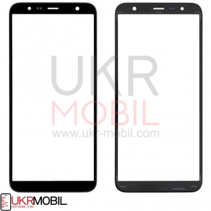 Стекло дисплея Samsung J610 Galaxy J6 Plus 2018, J415 Galaxy J4 Plus 2018, Black