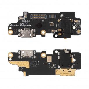 Шлейф Meizu M5 Note M621, с разъемом зарядки, гарнитуры, микрофоном, плата зарядки, High Copy